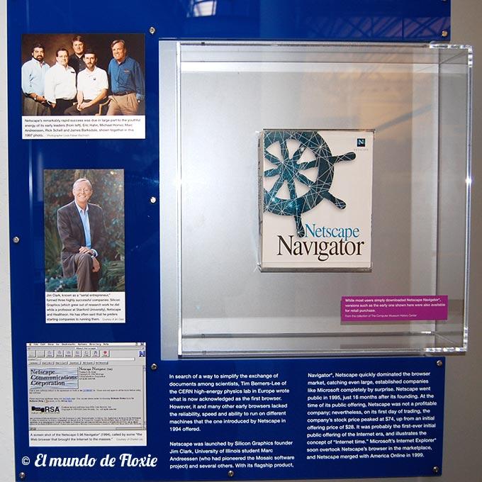 """Pack del Netscape Navigator, el soft más utilizado en los inicios para """"navegar la web"""" - Computer history museum en Silicon Valley"""