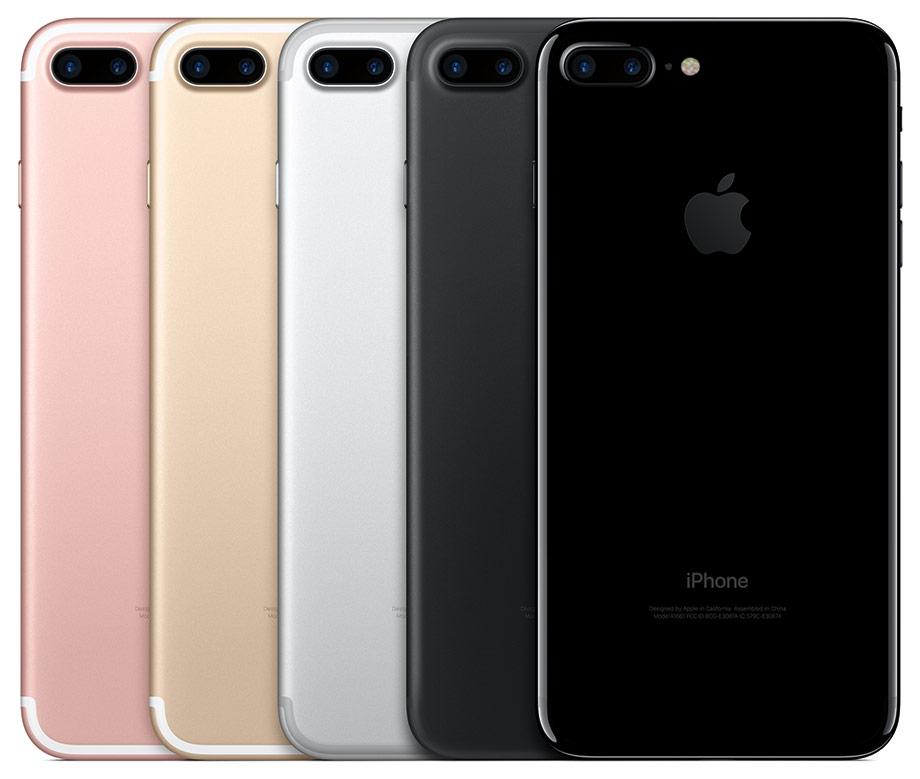 Iphone 7 plus en su variedad de colores