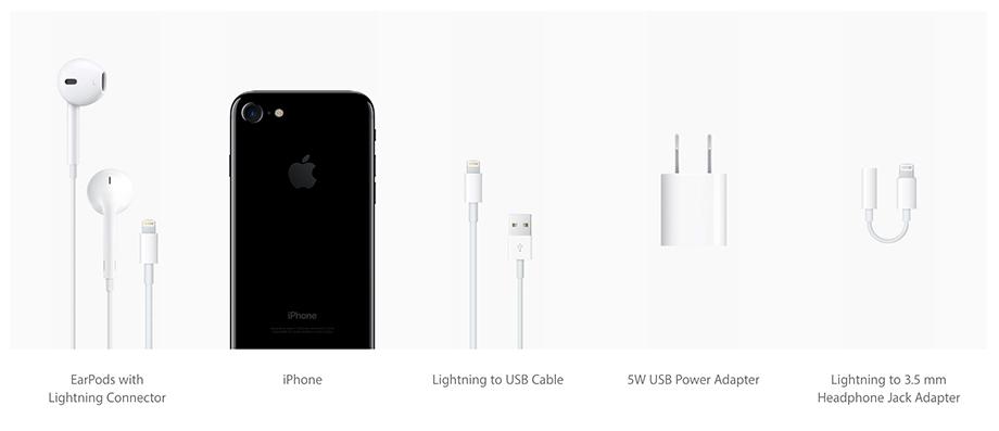 Incluído en la caja del iPhone 7