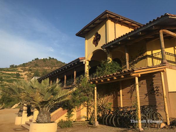 Edificio principal de la Viña Santa Cruz en el Valle de Colchagua