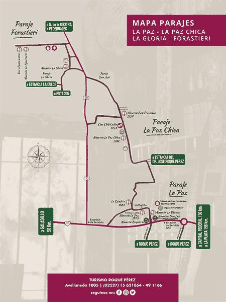 Mapa almacenes de campo Roque Perez