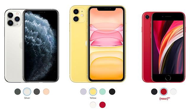 iPhone 11 iPhone SE iPhone 11 Pro